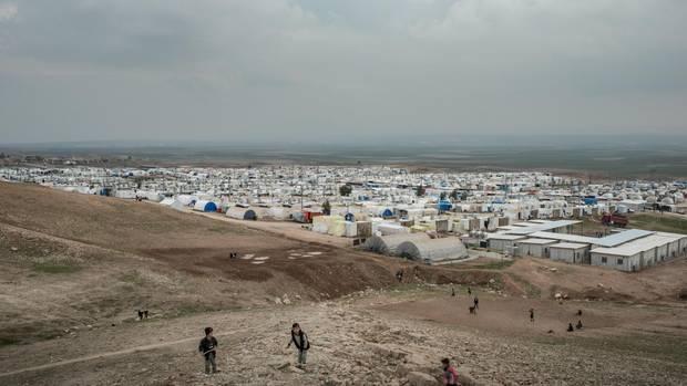 Das Flüchtlingslager Essian Camp im Norden des Irak