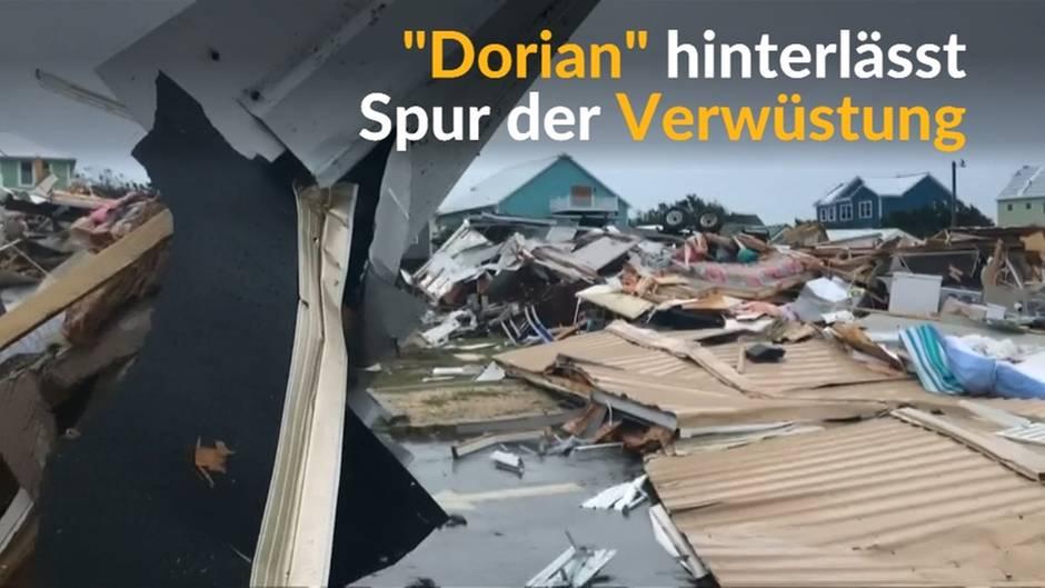 """Video: """"Dorian"""" tobt an der US-Ostküste"""