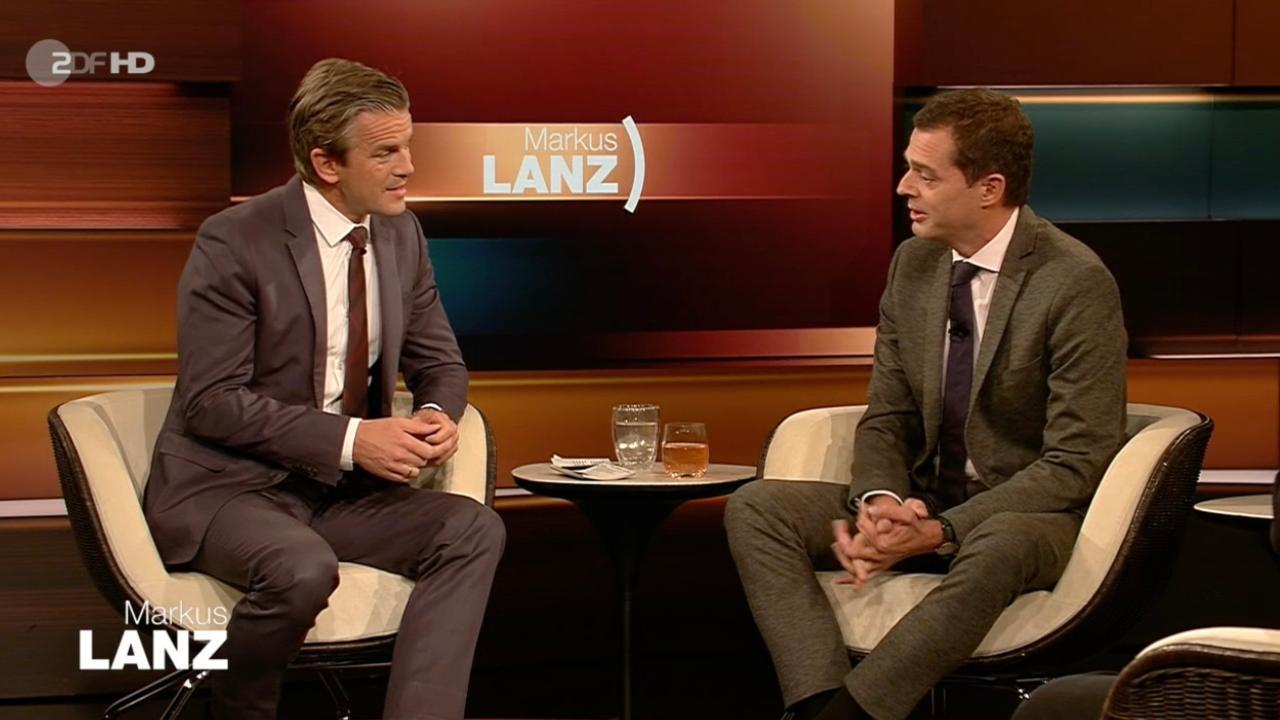 Mike Mohring redete im Gespräch mit Markus Lanz (l.) sehr offen über seine Koalitionspläne für Thüringen