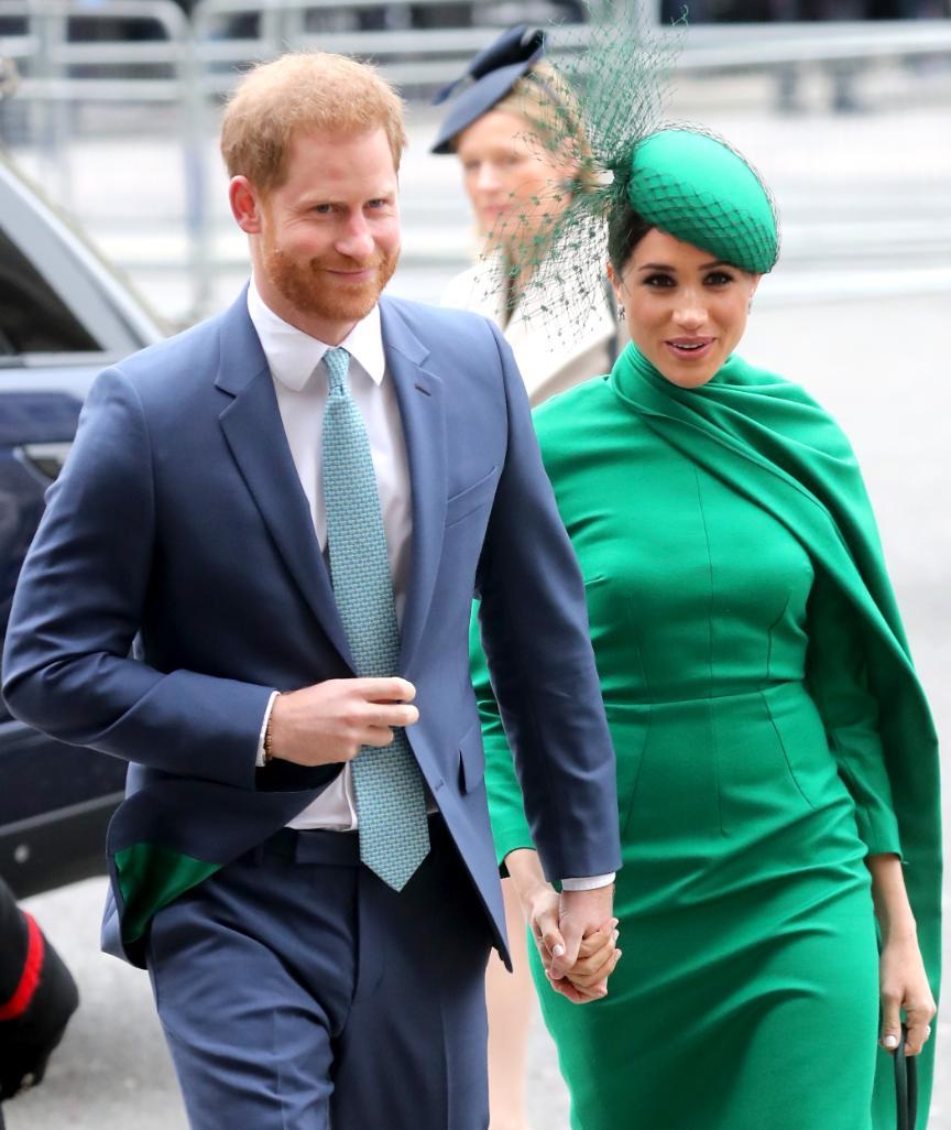 Harry und Meghan auf dem Weg zu ihrem letzten royalen Auftritt