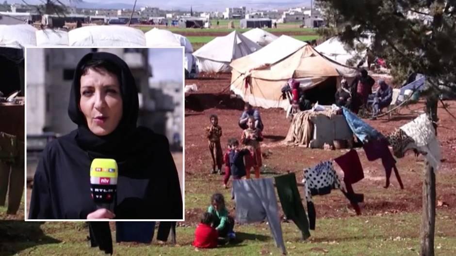 Reportage aus Idlib: Mütter und Kinder auf der Flucht: Wenn das wenige Brot zum traurigen Festmahl wird