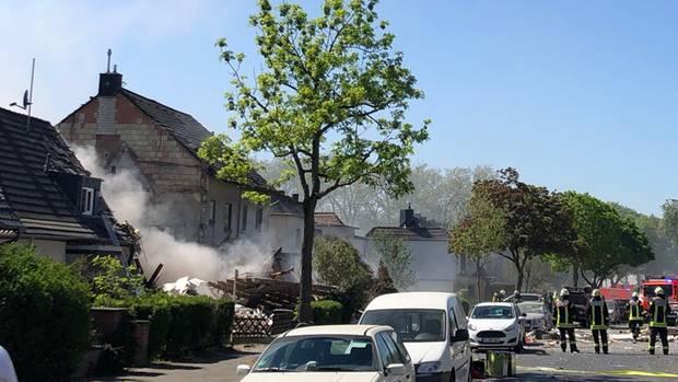 Ein Wohnhaus in Köln ist explodiert