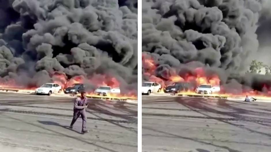 Ägypten: Riesenbrand in Kairo: Erdöl-Pipeline geht in Flammen auf