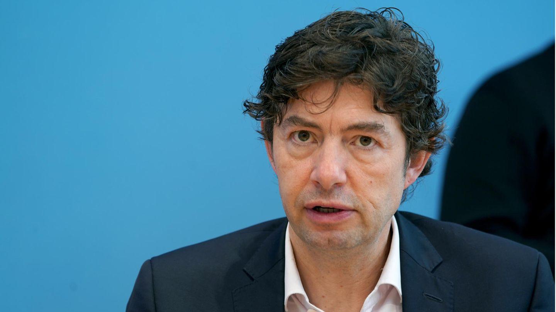 Virologe Christian Drosten von der Berliner Charité auf einer Pressekonferenz zur Coronavirus-Pandemie am 9. Oktober