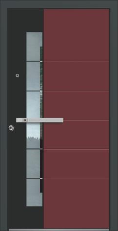 Hochwertigen Haustüren in schwarz und rot