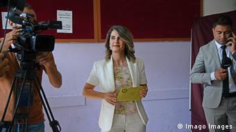 Basak Demirtas, die Ehefrau des Angeklagten Selahattin Demirtas