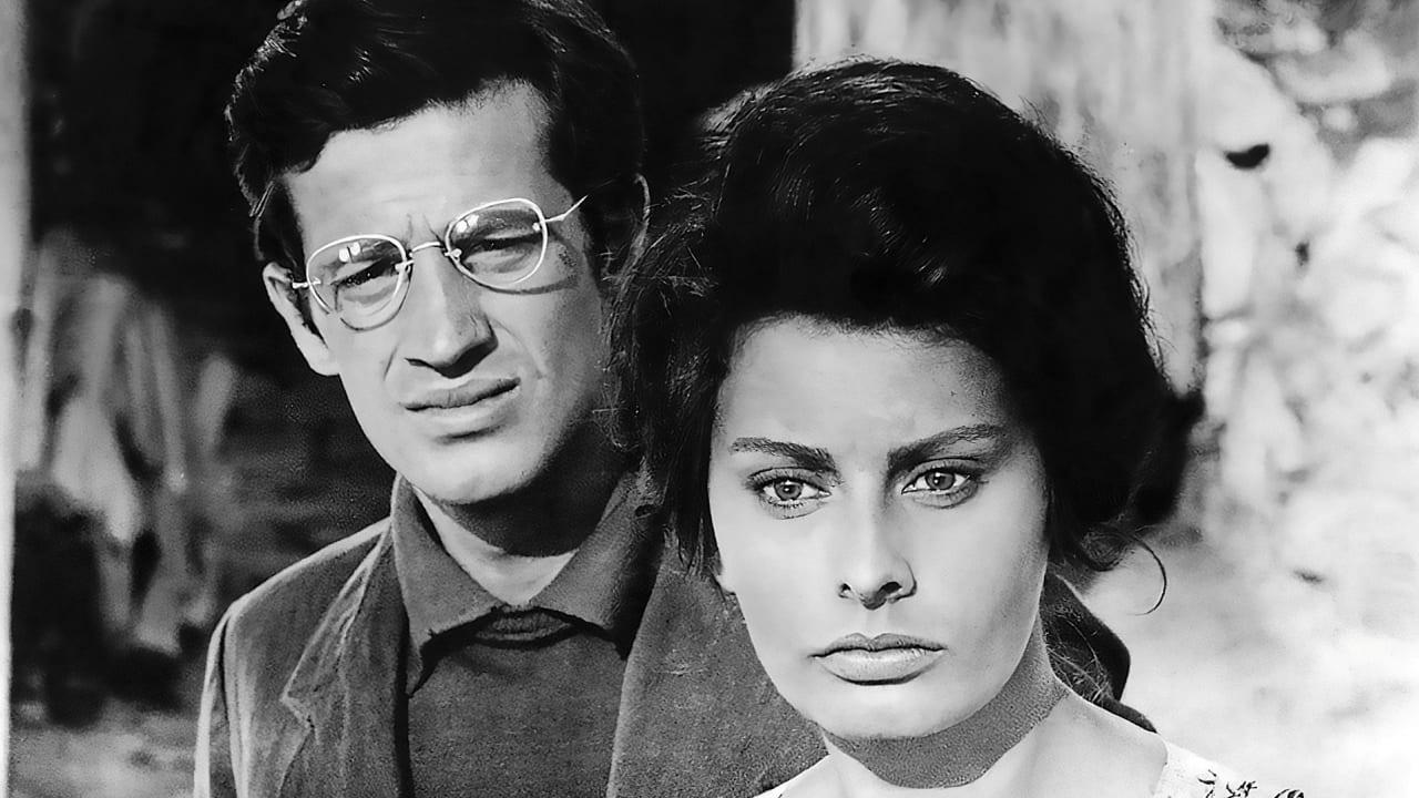 """1960: Belmondo mit Italo-Diva Sophia Loren (heute 86) im Kriegs-Drama """"Und dennoch leben sie"""""""